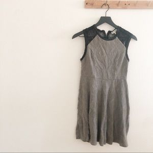 Monteau Gray And Black Lace Sweater Skater Dress
